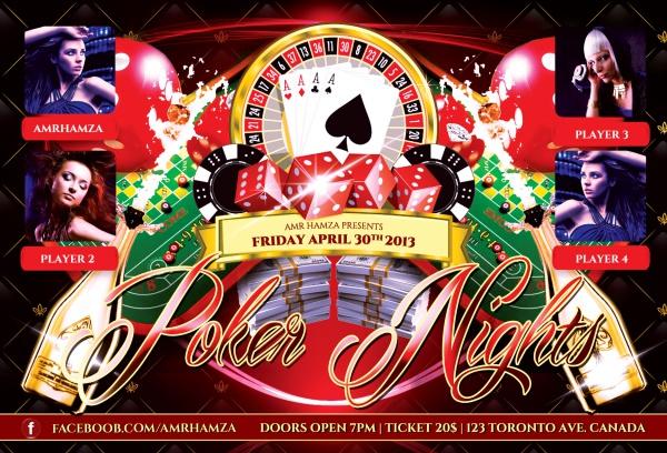 Poker Night Theme Flyer