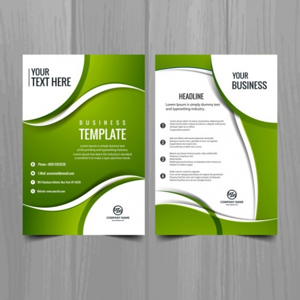 Elegant Green Business brochure