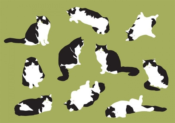 hand-drawn-fat-cat-vectors