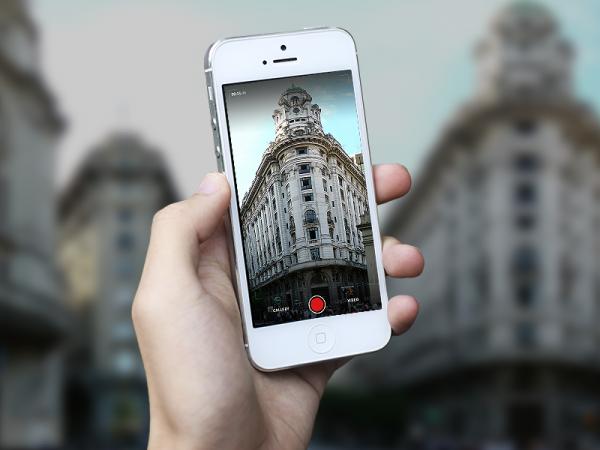 iPhone Camera app Mockup