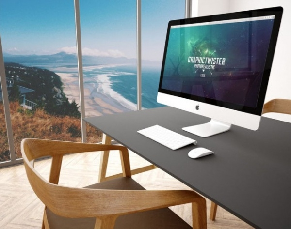 office Desk imac mockup