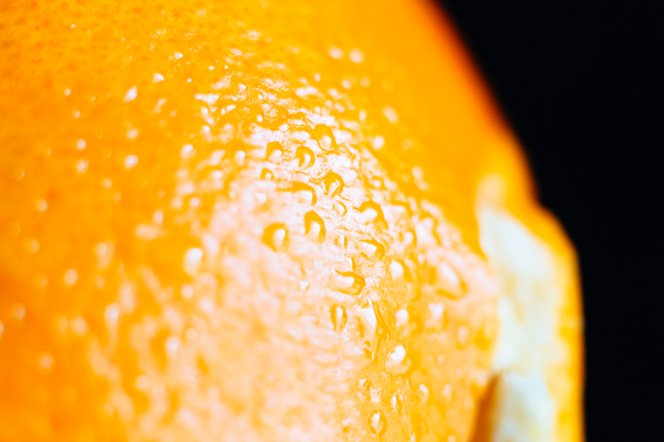 orange peel Water drops texture