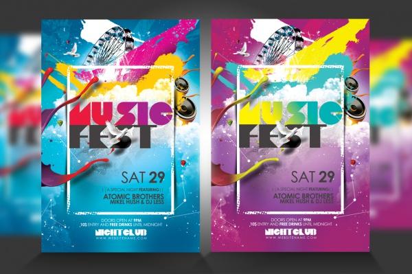 Skyline Music Festival Fest Flyer
