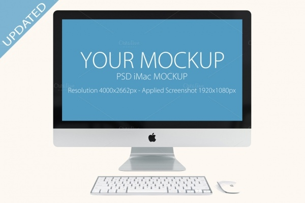 realistic iMac Mockup