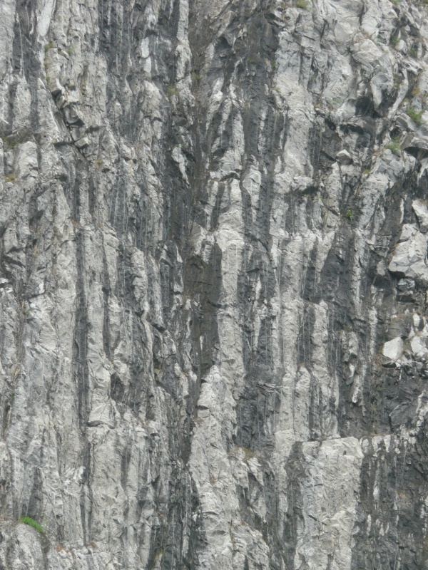 Streaked Grey Rock Cliff Texture