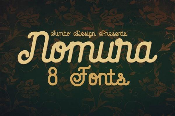 vintage script style custom font