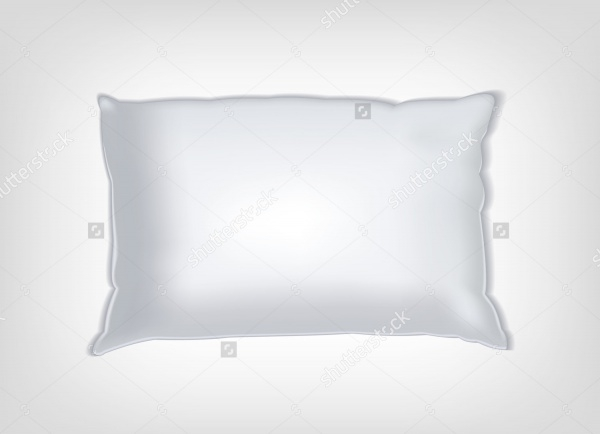 white vector pillow mockup