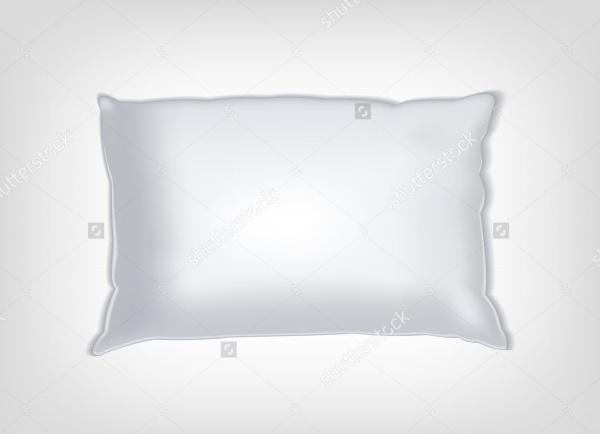 white vector pillow mockup