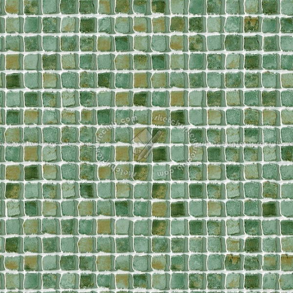 Hand Painted Mosaic Tile Texture