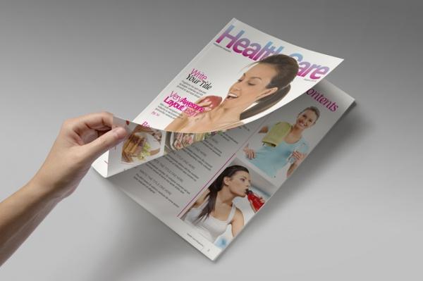 Women's Health Care Magazine Template