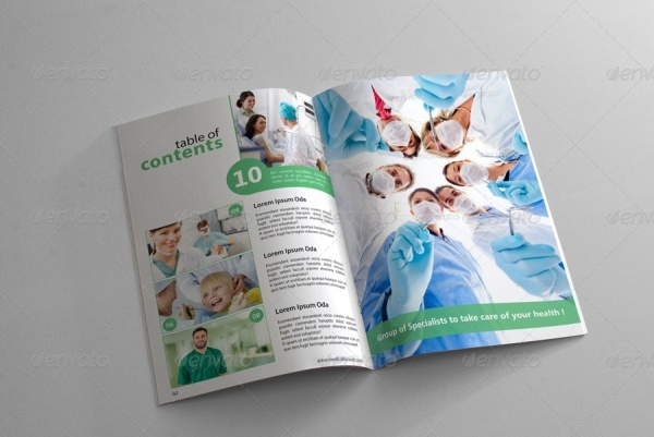 Professional Health and Medical Magazine Template