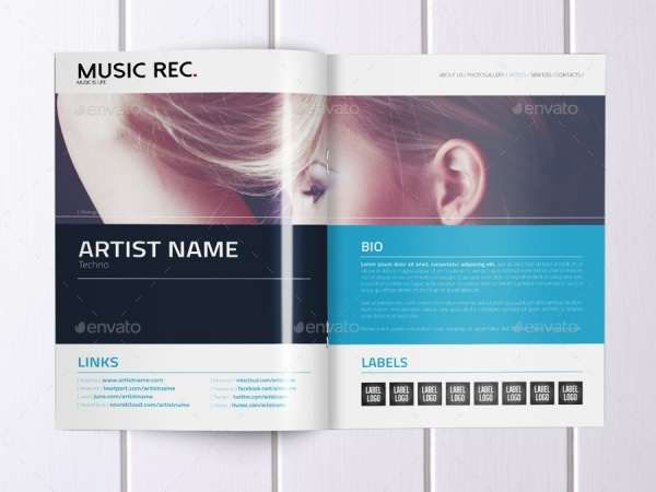 Music Agency Presentation Brochure