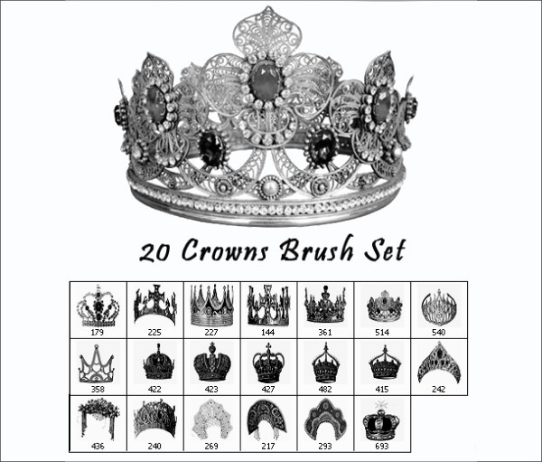 20 Crowns Brush Set