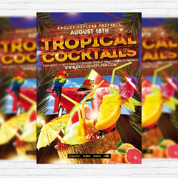 Tropical Cocktail Party Flyer