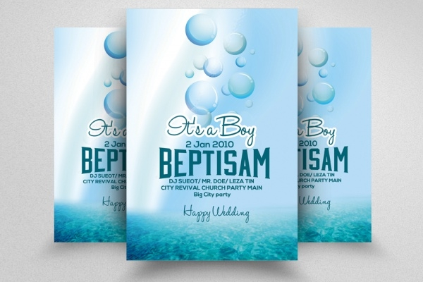 Baby Shower & Baptism Invitation Flyer