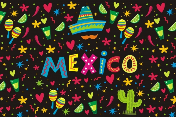 Mexican Vector Illustration Pattern