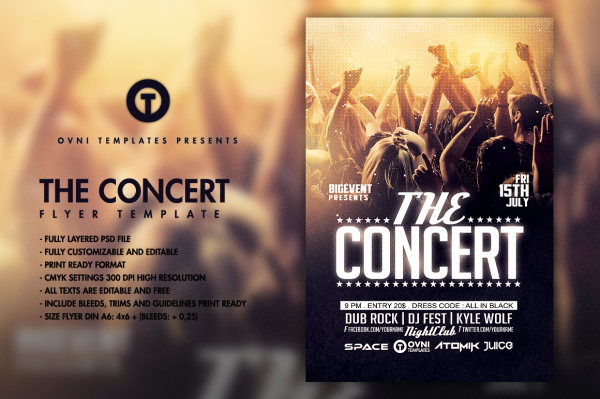 32 concert flyer templates psd vector eps jpg download freecreatives. Black Bedroom Furniture Sets. Home Design Ideas