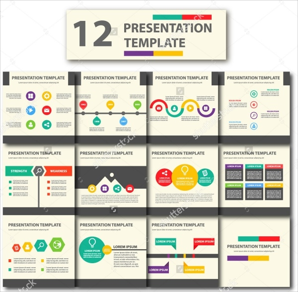 12 Colorful Animated Powerpoint Presentation