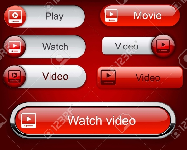 Web Video Vector Buttons