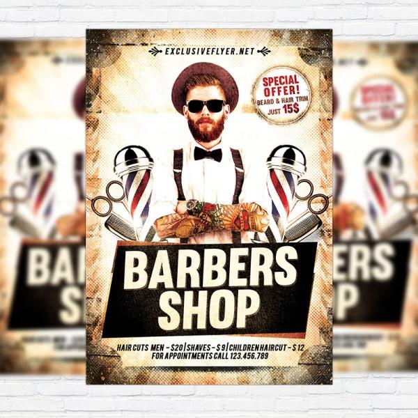 Barbershop Facebook Cover Flyer