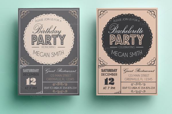 1Bachelorette & Birthday Party Dinner Invitation