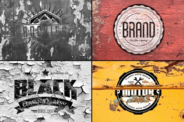 Vintage Branding Logo Mockup