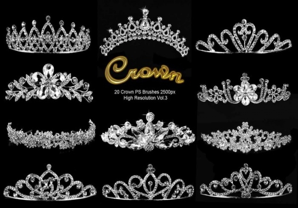20 Crown Sparkling Brushes
