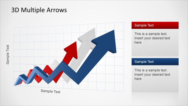 3d arrow progress diagram presentation template