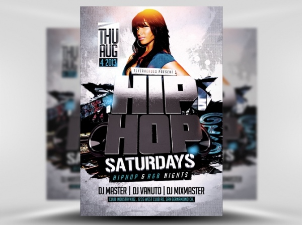 3D Hip Hop Flyer Template