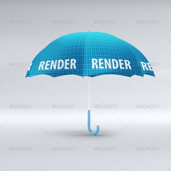 3D Umbrella Editable Mockup