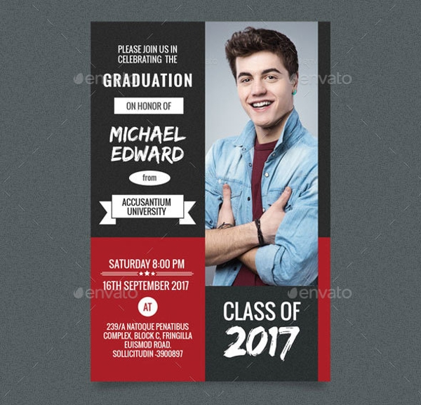 4 In 1 Graduation Post Card Template