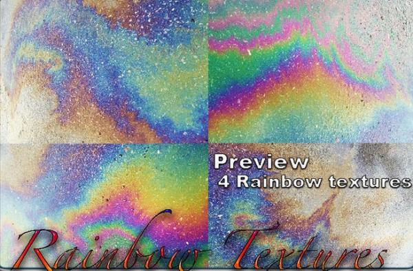 4 Rainbow Smoke Textures