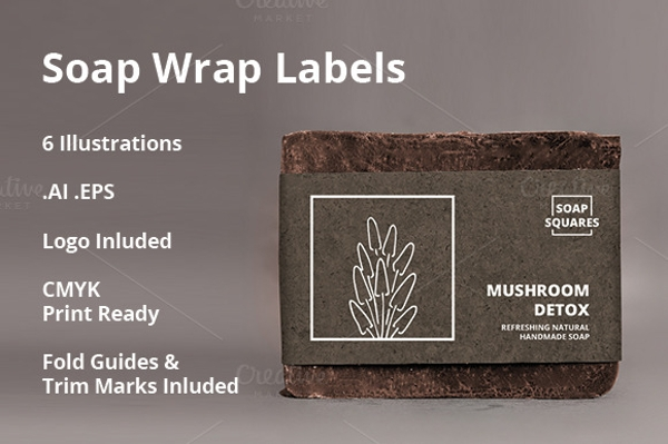 4 Soap Wrap Label Design Template