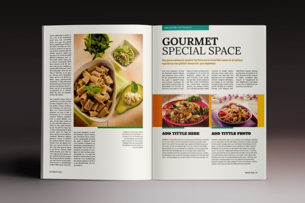 Multipurpose Food Magazine Template