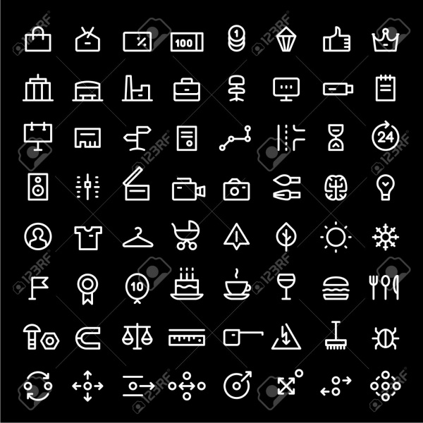 64 Mini Icons For Web Services