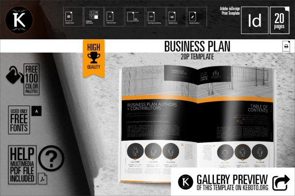 A4 Business Plan Presentation Template