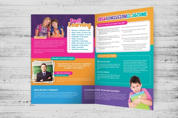 Daycare Brochure Template  BesikEightyCo