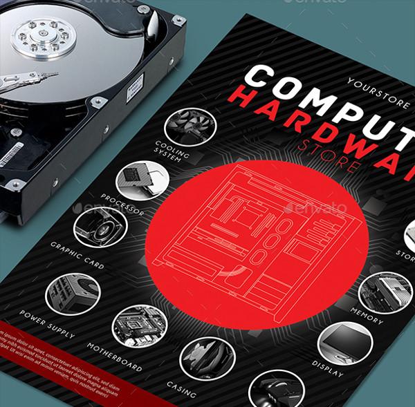 A4 Design Computer Flyer