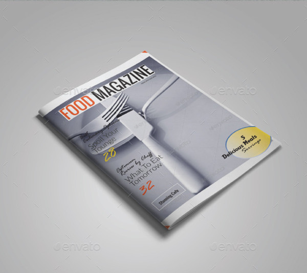 A4 Food Magazine Template