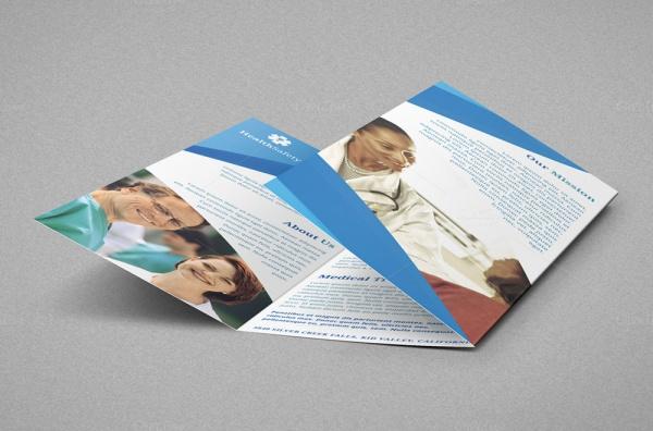 A4 Hospital Trifold Brochure