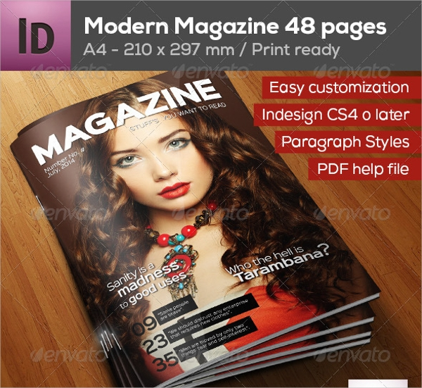 A4 Professional Magazine Design