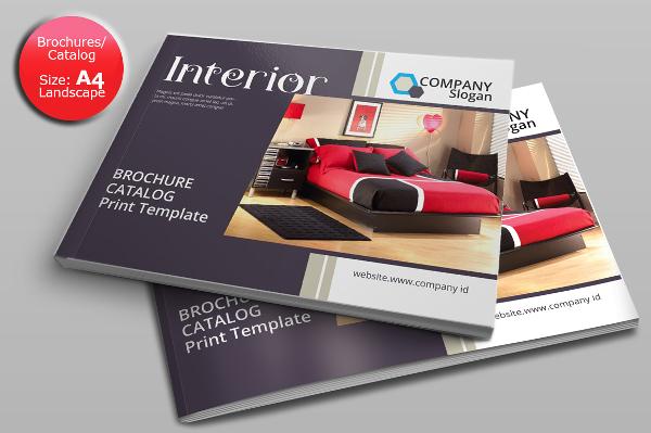 24 landscape brochure psd indd eps ai download for Free interior design catalogs