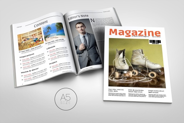 A5 Professional Magazine Template Design