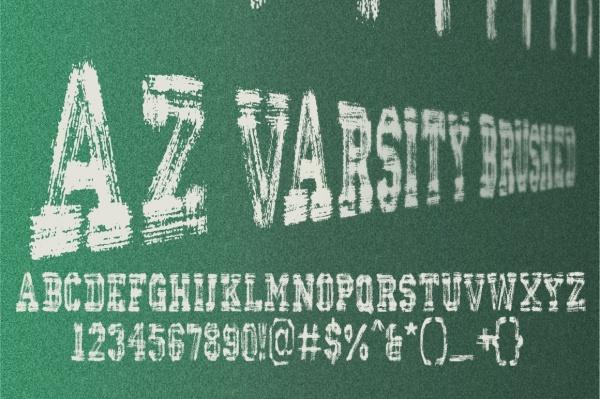 AZ Varsity Brushed Font