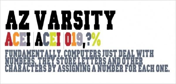 AZ Varsity Std Font