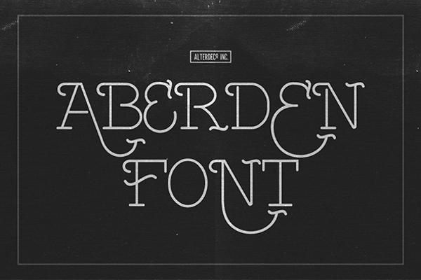 Aberden Typeface Adventure Font