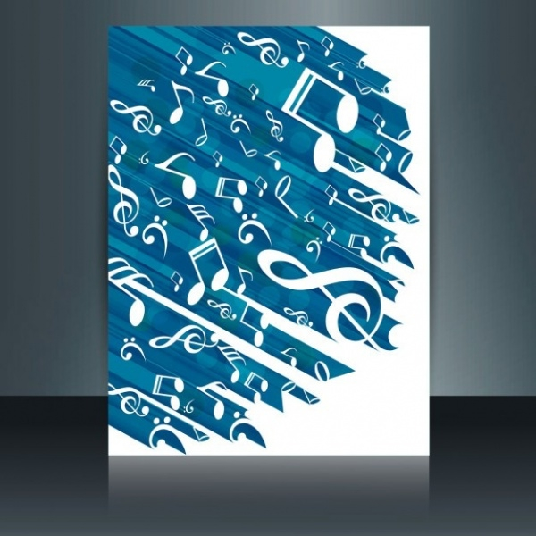 Abstract Advertising Music brochure