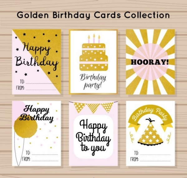 Abstract Birthday Celebration Card
