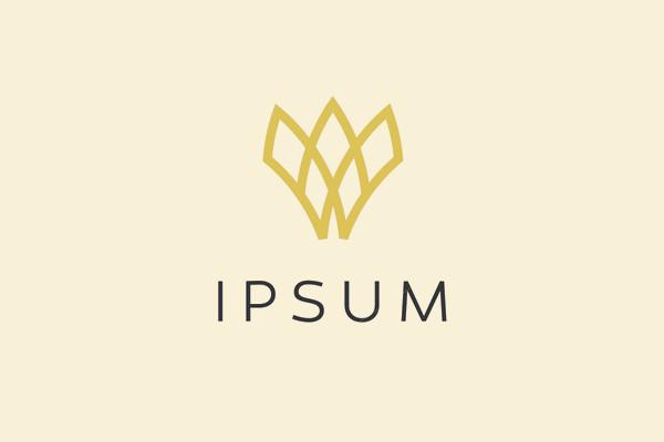 Abstract Crown Symbol Logo Design