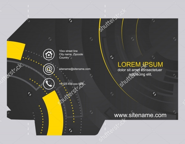 Abstract Dark Die Cut Brochure Design